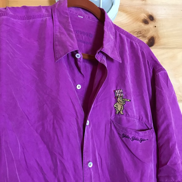 Other - ❌SOLD❌ SOFT PURPLE EMBROIDERED BUTTON UP TOP